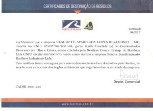 Certificado de Descarte